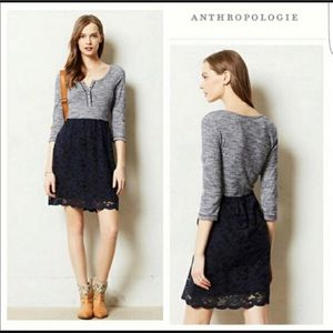 NWOT Anthropologie Henley Lace Dress